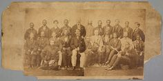 huntingtonlibrary:    The group is linked together by that most human of gestures touch. Even still that contact is racially bound. Black touches Black. White touches white. White touches Black. But only in one case does an African American man E. Fox (standing far left in the image below) place a hand on a white mans shoulderand then in a most tentative way. This cautious touch seems a telling symbol of what was to come.  Today in The Power of Touch on VERSO Huntington curator Jennifer…