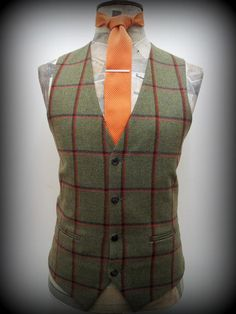 mens formal hire wedding waistcoat. #wedding #hire #tweed #waistcoat #duncanjamesmenswear