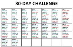 30-Day Challenge #1 - a good way to easy back into working out.  I need structure!