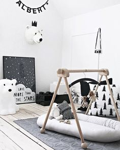 Love this gorgeous nursery by @mitliversmukt  Nanuk Bear lamp is now back in stock, available online at @istome_store  . #kidsroom #kidsroomdecor #nordichome #nordicinspiration