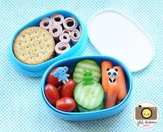 afternoon nutrition break - whole wheat crackers, turkey roll-ups, baby tomatoes, cucumbers, baby carrots