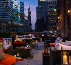 August is for lazing, sunglasses on, with a cocktail in a rooftop bar.