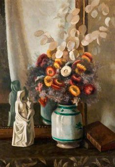 Immortelles by Roger Eliot Fry Ben's Bells, French Paintings, Floral Paintings, Spa Art, Immortelle, Bloomsbury Group, Museum Art Gallery, Still Life Flowers, Garden Painting