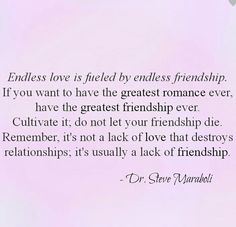 Endless love and endless friendship