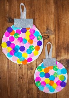 Paper Plate Baubles - Giant Christmas Decorations - Mum In The Madhouse