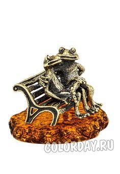 "фигурка ""Лягушки на Скамейке"" Baltic Amber, Cufflinks, Accessories"