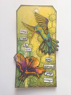 Hummingbird & Flower   Art Journey stamps   Art Journey