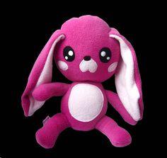 Big Fluse Kawaii Plush Monster Rabbit Pink Light Pink by Fluse123