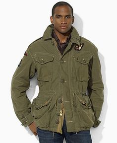 Ralph Lauren Jacket, Military Combat Jacket - Mens Polo Ralph Lauren -