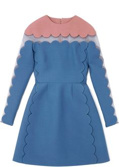 Long Sleeved Scallop Edge Dress with Open Scallop Detail - Lyst? Another Valentino and for two months rent it's all mine!