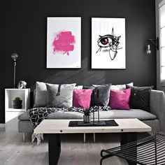 Pink Decorate with a hint for color for spring. Colorful wall art will brighten up any room! Not a fan of pink? Don't worry! We have lots of other prints Hop over to our webshop and have a look! . «Pink Brush» 61x91 | «Pink Iris» 61x91 _ #colorpop #colorfulart #artwork #wallart #art #graphicart #pinkart #pinkwallart #pinkposters #posters #postersonline #kristiansand #uniqueposters #posterart #interior #interiorposter