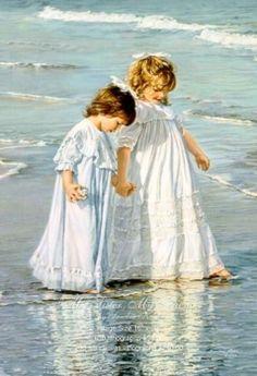 """My Sister My Friend"" Framed Canvas - by Sandra Kuck"