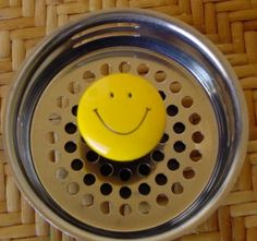 SMILEY FACE Stainless Steel Kitchen Sink Strainer Drain Plug.