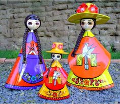 Image detail for -Description: Sermel Dolls are made of papier mache. Colorful and ...