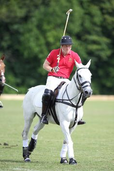 Prince Harry takes part in the Rundle Cup at Tidworth Polo Club on July 12, 2014