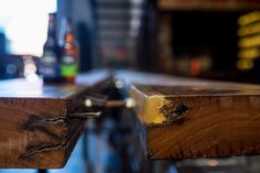 Resin Table microbrewery dry bar Dodge truck craftsmanship beer taps craft beer custom timber value design construct fit-out