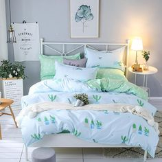 Bedding set Queen size Duvet cover sets Twin Full size Polyeter Duvet Cover Home Textile Wholesale Cactus green pink. Category: Home & Garden. Subcategory: Home Textile. Cheap Bedding Sets, Cotton Bedding Sets, Queen Bedding Sets, Comforter Sets, Affordable Bedding, Unique Bedding, King Comforter, Green Bedding, Bedroom Green