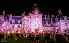 Dream Wedding def. @Biltmore Love the lights on the beautiful mansion