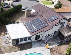 Nice solar panel installation on a roof in San Diego