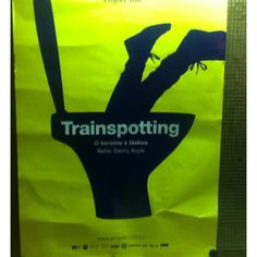 Trainspotting poster, Bio Oko Cinema, Prague Cinema Posters, Film Posters, Trainspotting Poster, My Life, Movies, Films, Reusable Tote Bags, Prague, Design