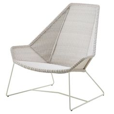 Breeze korkeaselkäinen tuoli, valkoinen , ulkokalusteet puutarha