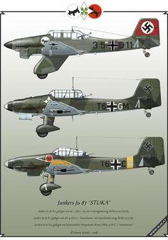 Luftwaffe Aviation Art made by Simon Schatz: Junkers Ju 87 Stuka