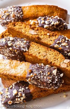 Chocolate-Dipped Toasted Almond Biscotti-- this recipe turned me into a biscotti lover!