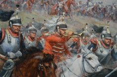 Charge of the French Cuirassiers at Waterloo.  By Paul-Emile Perboyre