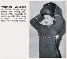 Thanks to the Women Welders of WWII!