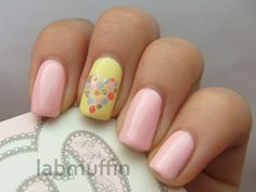 Valentine's Day nail art: sweet candy-coloured hearts edition with accidental geekery ~ Lab Muffin