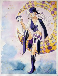 I wanted to do a woman in Harlequin/pierrot style just to try I was so sad Les Oeuvres, Sad, Deviantart, Illustrations, Woman, Anime, Paint, Illustration, Women