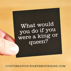 Conversation Starters for Kids - Questions for kids for family dinner discussions - Preschool Activities - DIY PRINTABLE you send to Moo.com
