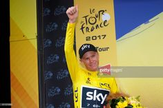 #TDF2017 104th Tour de France 2017 / Stage 9 Podium / Christopher FROOME (GBR) Yellow Leader Jersey / Celebration / Nantua - Chambery (181,5km) / TDF/