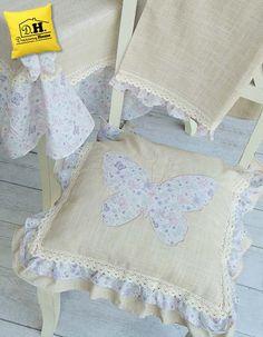 Primaverile cuscino per sedia di Angelica Home & Country della collezione Farfalle