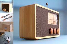 Table Wooden Radio by Magno $299