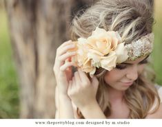 Flower headpiece...would look adorable on our flower girls