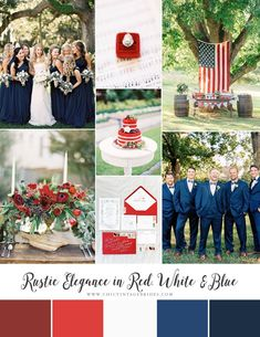 Rustic Elegance in Red, White & Blue - 4th of July Wedding Inspiration