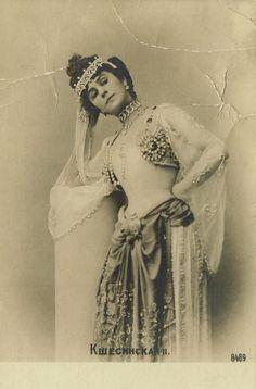 Mathilde Kschessinska as Princess Aspicia, 1900. The Pharaoh's Daughter,