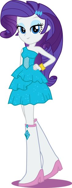 (Equestria girls) Rarity formal dress