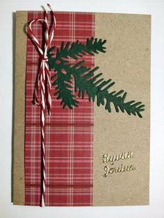 Yksinkertainen helppo joulukortti jämäpapereista craft