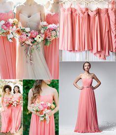 Key Color for Bridesmaid Dresses 2014–Coral | VPonsale Wedding Custom Dresses