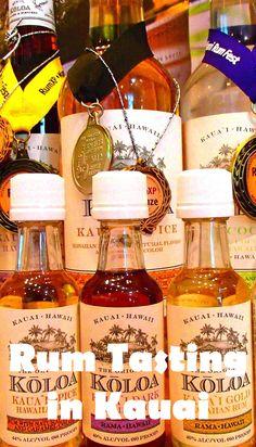 Rum tasting in #Kauai! A fun addition to any #Hawaii #travel itinerary. @koloarumcompany www.passportsandcocktails.com/2014/07/koloa-rum-company-kauai-hawaii.html