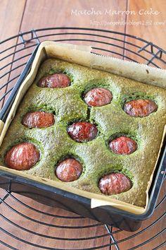 Matcha chestnut cake