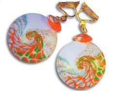 Colorful clip on earrings with potential add by Fragrancejewelry