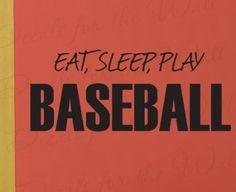 Amazon.com: Eat Sleep Play Baseball - Boy Sports Themed Kids Room Playroom - Decorative Adhesive Vinyl Wall Decal, Quote Sticker Graphic, Lettering Art Decor, Saying Decoration: Furniture & Decor
