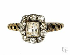 Boxed Early #Victorian #Diamond #Cluster #Engagement #Ring $1195