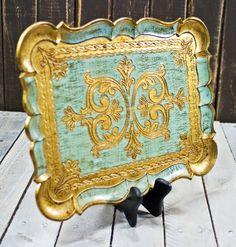 Vintage Italian Florentine Tray Shades of by TheVintageIslandInc, $34.00