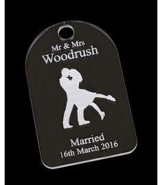 Mr & Mrs Wedding acrylic gift tag