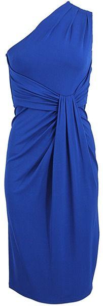 Michael Kors One Shoulder Jersey Sheath Dress