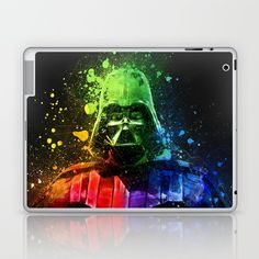 Darth Vader Splash Painting Laptop & iPad Skin by Cudge Art. Worldwide shipping available at Society6.com. Just one of millions of high quality products available.